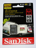 Sandisk 64g Micro Extreme 4k Video Sd Card For Gopro Hero5 Hero 5 Black Session