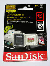 Sandisk 64G Micro Extreme 4K video best Ultra HD SD card for GoPro Hero5 black