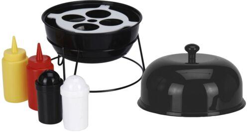 BBQ manage set especiero giratorio /& tapa parrilla grillos camping exterior