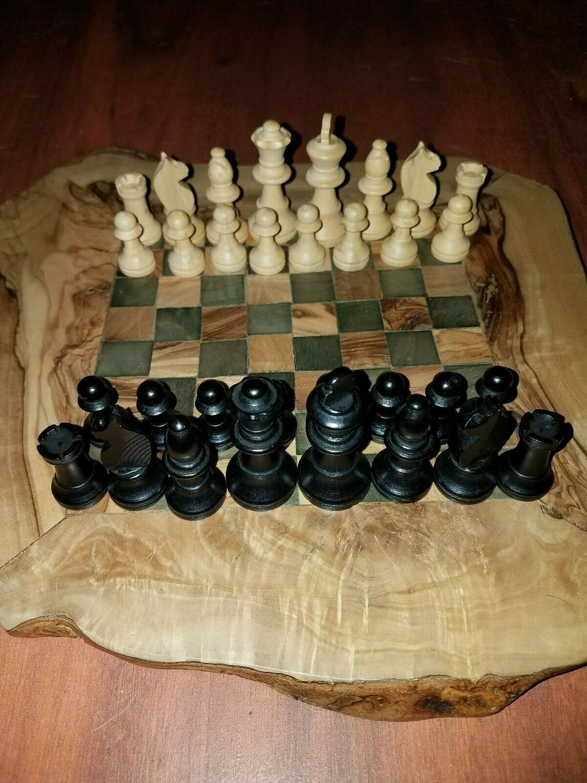 Beautiful hand made hand carved chess set fast free shipping