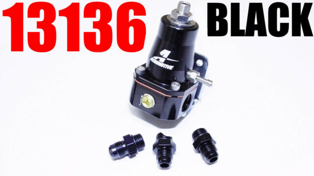 Aeromotive 13136 EFI Bypass Regulator black 1000 HP combo with -6 Fittings NEW