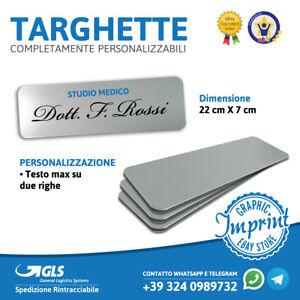 Targhetta Targa Porta Ufficio Cartello Interno Esterno Personalizzazione Ebay