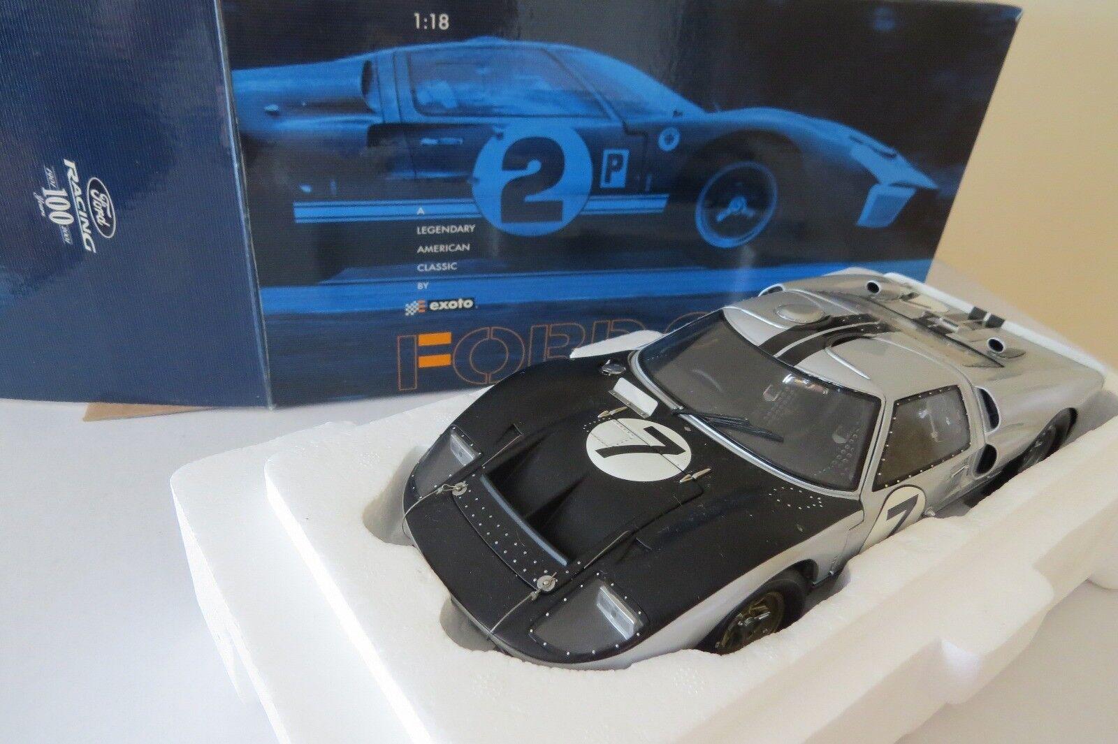 miniature  Ford GT40 MK IV Le Mans 66 EXOTO G.Hill B.Muir