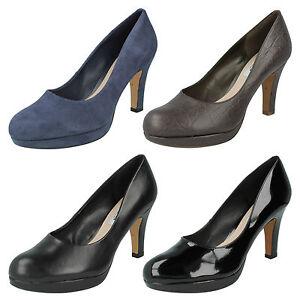Plataforma Ante De Mujer Cuero Para Zapatos Salón Sin Cordones Elegantes Clarks qUwgvBXnB