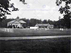 ROYAL-MILITARY-COLLEGE-CRICKET-SANDHURST-SURREY-ENGLAND-1895-BW-PRINT-1691BWB