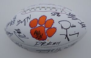 2019 CLEMSON TEAM SIGNED FOOTBALL X30 TRAVIS ETIENNE ...