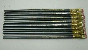 Faber-Castell-Blackwing-602-Pencils-Lot-of-8-Unused-RARE-Vintage-A