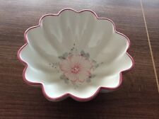 pretty scalloped Vestal pottery Bowl