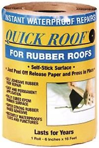 Rubber Quick Roof Patch Kit Repair Trailer Camper RV Leaks