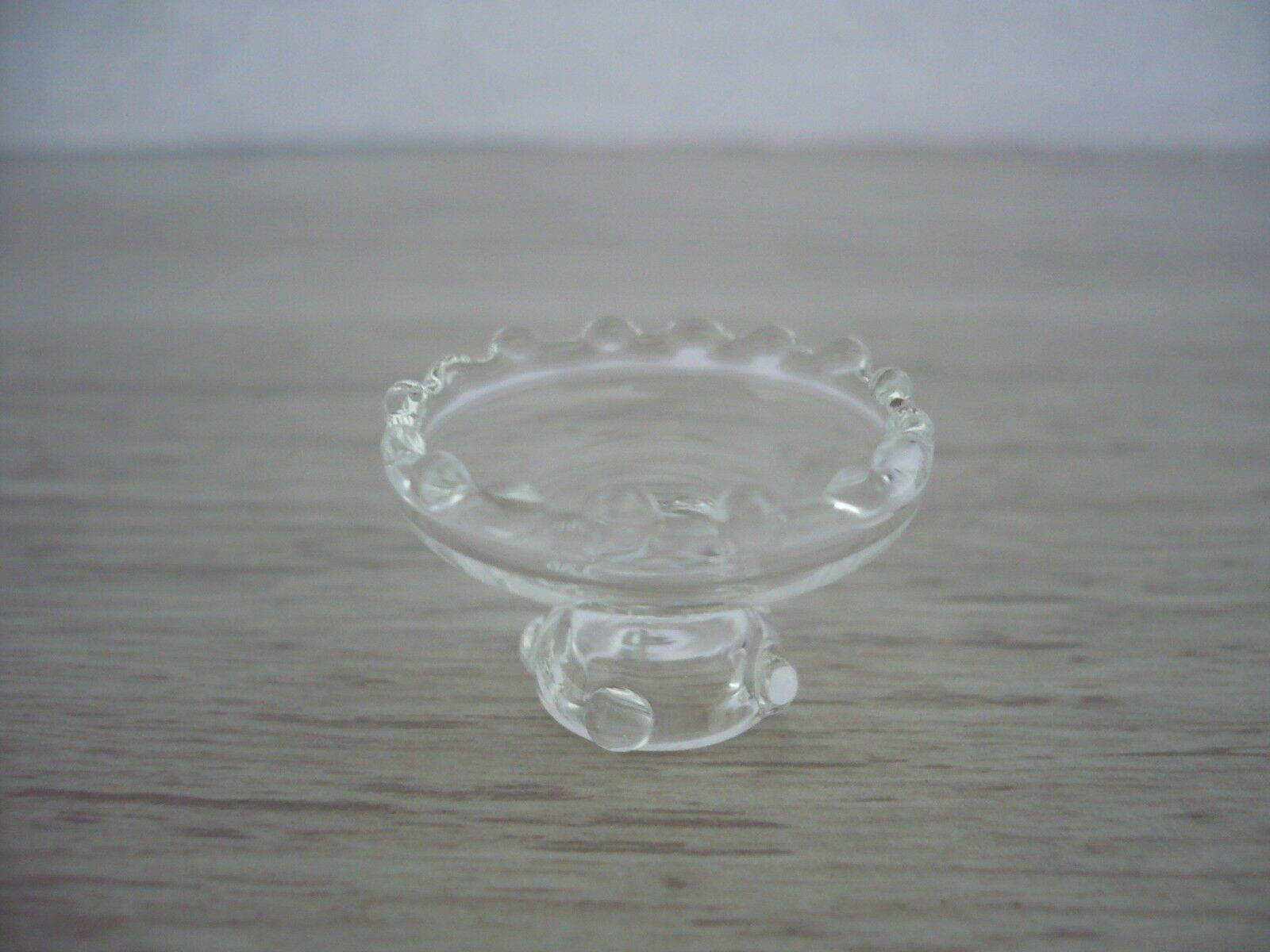 Clear Glass Tier Stand Dollhouse Miniatures Supply Party Cake