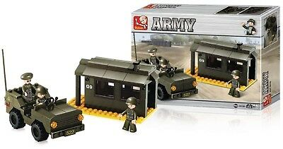Diligente Jeux De Construction Jeep Caserne Figurine Militaire Blocks New Set Bricks Army Elaborato Finemente