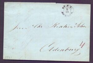 Vorphilabrief-Bremen-1841-Stempel-Stadtpostamt-auf-Brief-nach-Oldenburg-567