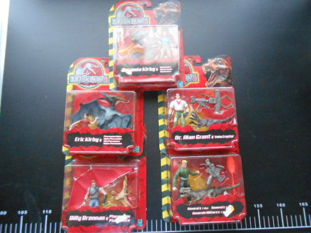 Jurassic Park 3 JP 5 Action Figure Full Set Hasbro Rare