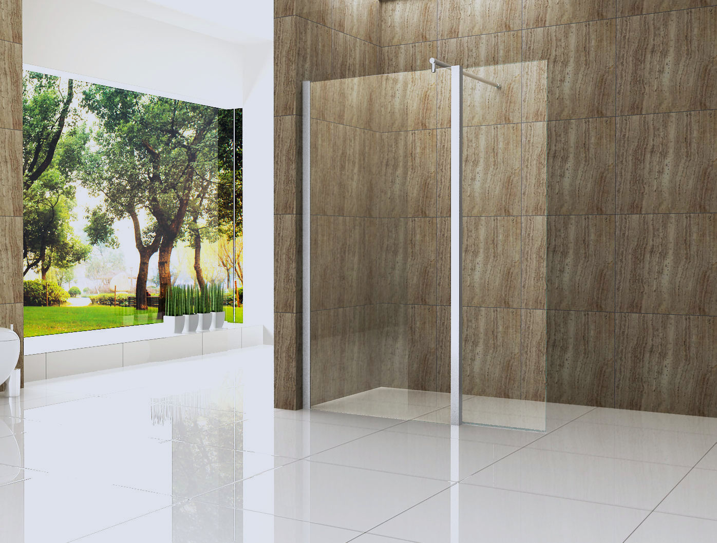 Seitenteil 30-60x200cm für Duschwand VACANTE Walkin Glas Dusche Duschabtrennung