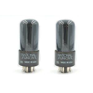 NOS-NIB-USA-National-Union-6V6GT-PAIR-Tested-and-Tightly-Matched-Smoked-Glass