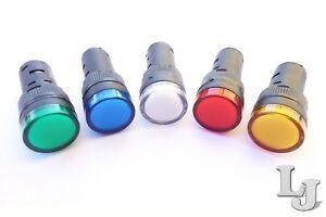 Meldeleuchte-Signalleuchte-Kontrollleuchte-Leuchtmelder-LED-12V-24V-230V-16mm
