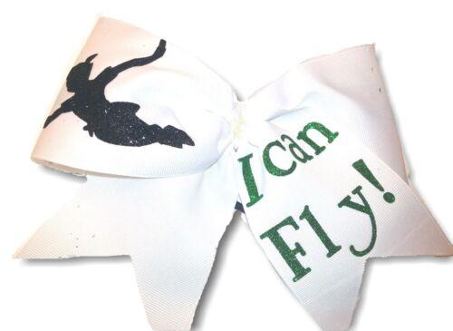 Peter Pan Cheer Hair Bow I Can Fly