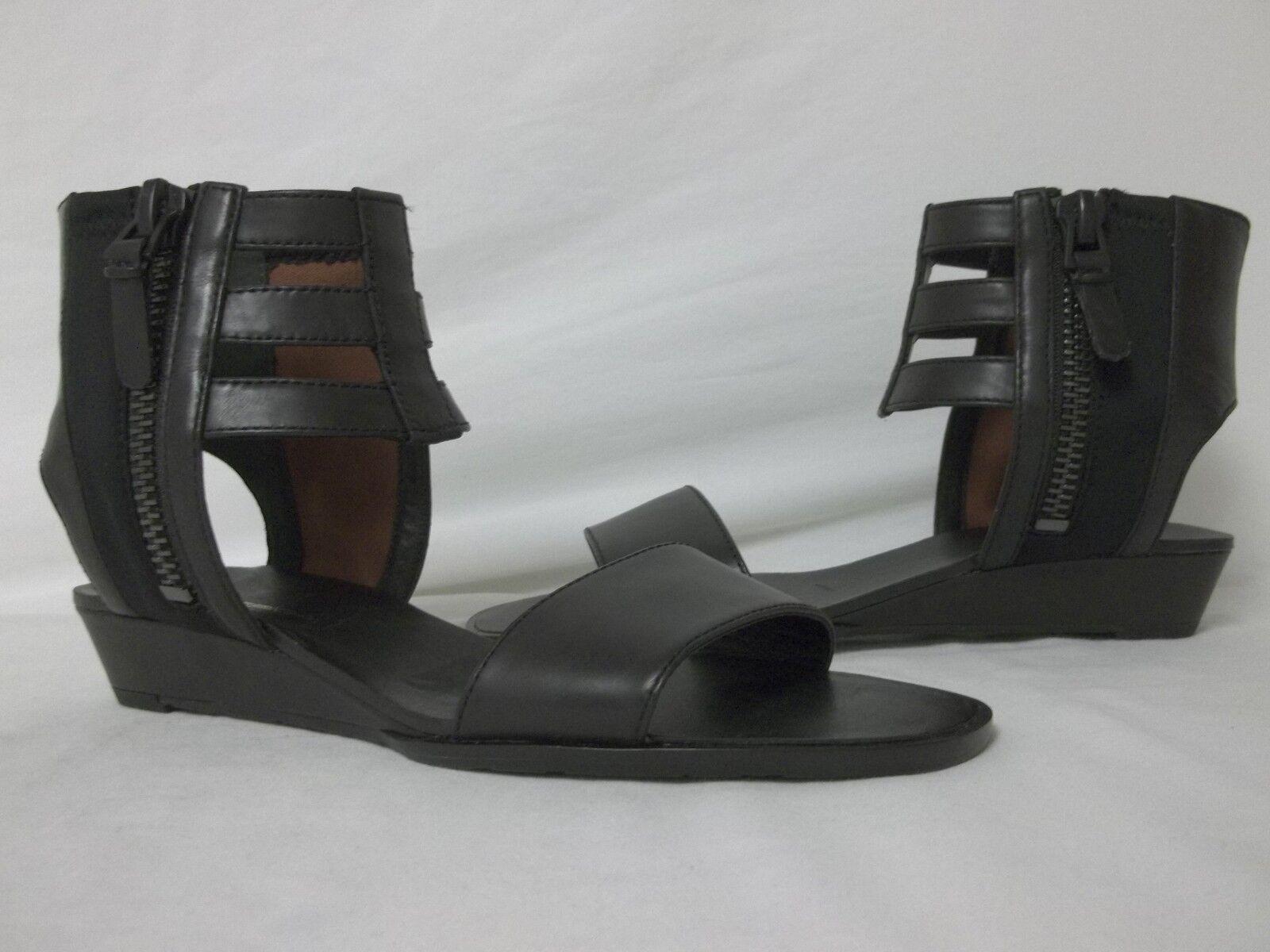 Via Spiga 6 M Patrice en Cuir Noir Spartiates Pour Femme Chaussures Neuf avec boîte