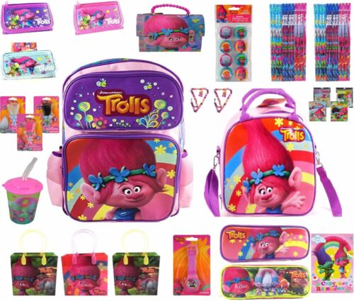 Party Favors Gift Trolls Products Toys Backpack Lunch Bag Pencil Wallet Erasers
