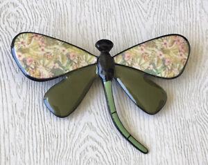 Unique-vintage-style-Dragonfly-large-brooch-in-enamel-on-metal