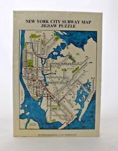 Nyc Subway Map Puzzle.Details About New York City Subway Map Jigsaw Puzzle 500 Pieces Made In 1971 Collectable