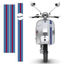 Adesivi Vespa sticker Strisce martini racing scontornate cropped 3 pz