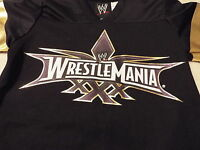Wrestlemania Xxx Boy's S(6/7) Tee Black With Logo On Front Superstars & 30 Back
