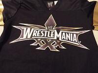 Wrestlemania Xxx Boy's S(6/7) Tee Black With Logo On Front Superstars & 30 Back