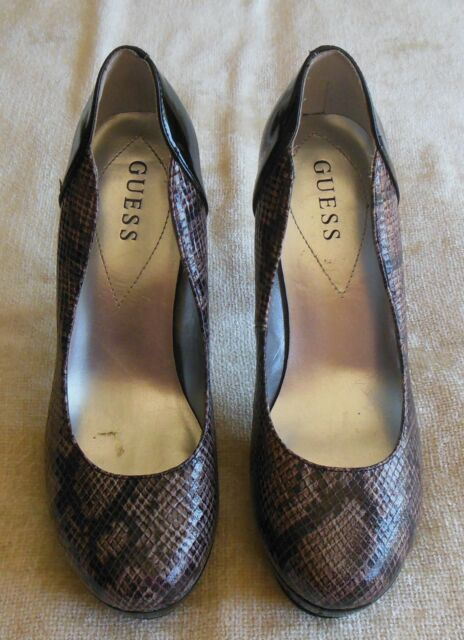 9c04a50d527 Guess by Marciano Sandrea 2 Python Snake High Heel Shoes Pumps Size 7.5M