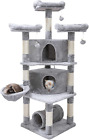 65″ Extra Large Multi-Level Cat Tree Condo Furniture With Sisal-Covered Scratchi