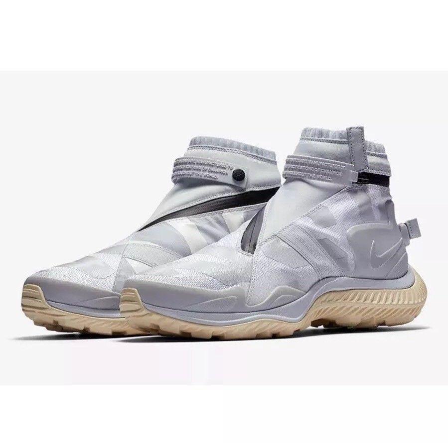 New Nike NikeLab NSW Gaiter Boot Gyakusou White Grey Black AA0530-100 Mens 8-12