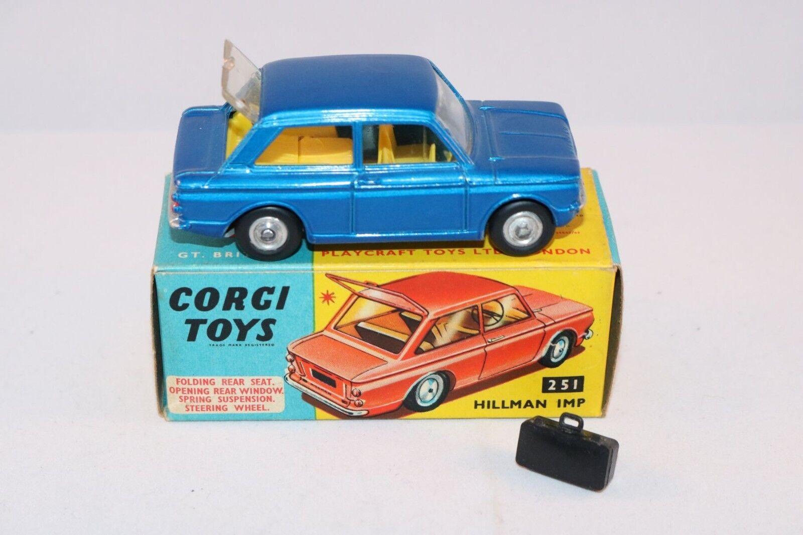 Corgi Toys 251 Hillman IMP blu perfect mint in box SUPERB