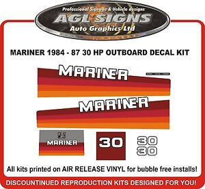 1984 1985  MERCURY 50 HP OUTBOARD DECAL KIT