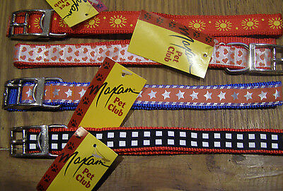 Maxam Pet Club Nylon Small Dog Collars and Matching Leash with Designs  ~New~