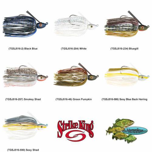 Strike King Jigs Swim 5//16oz Tour Grade pêche choisir tout 7 Couleurs tgsj 516 leurres
