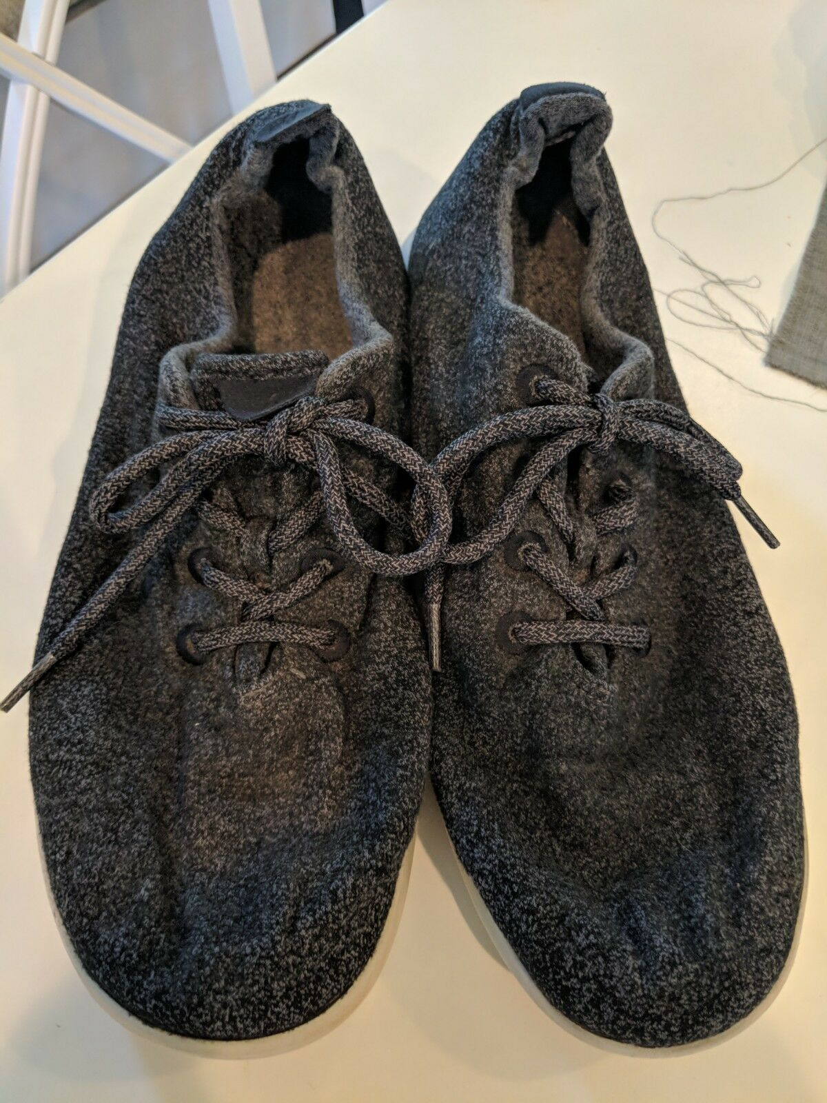 AllBirds Men's The Wool Runners Natural Grey Athletic Sneakers shoes Size12