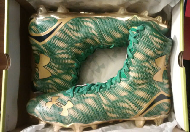 7eee789fe1db Under Armour SHAMROCK SERIES Highlight MC Limited Edition Notre Dame size 12