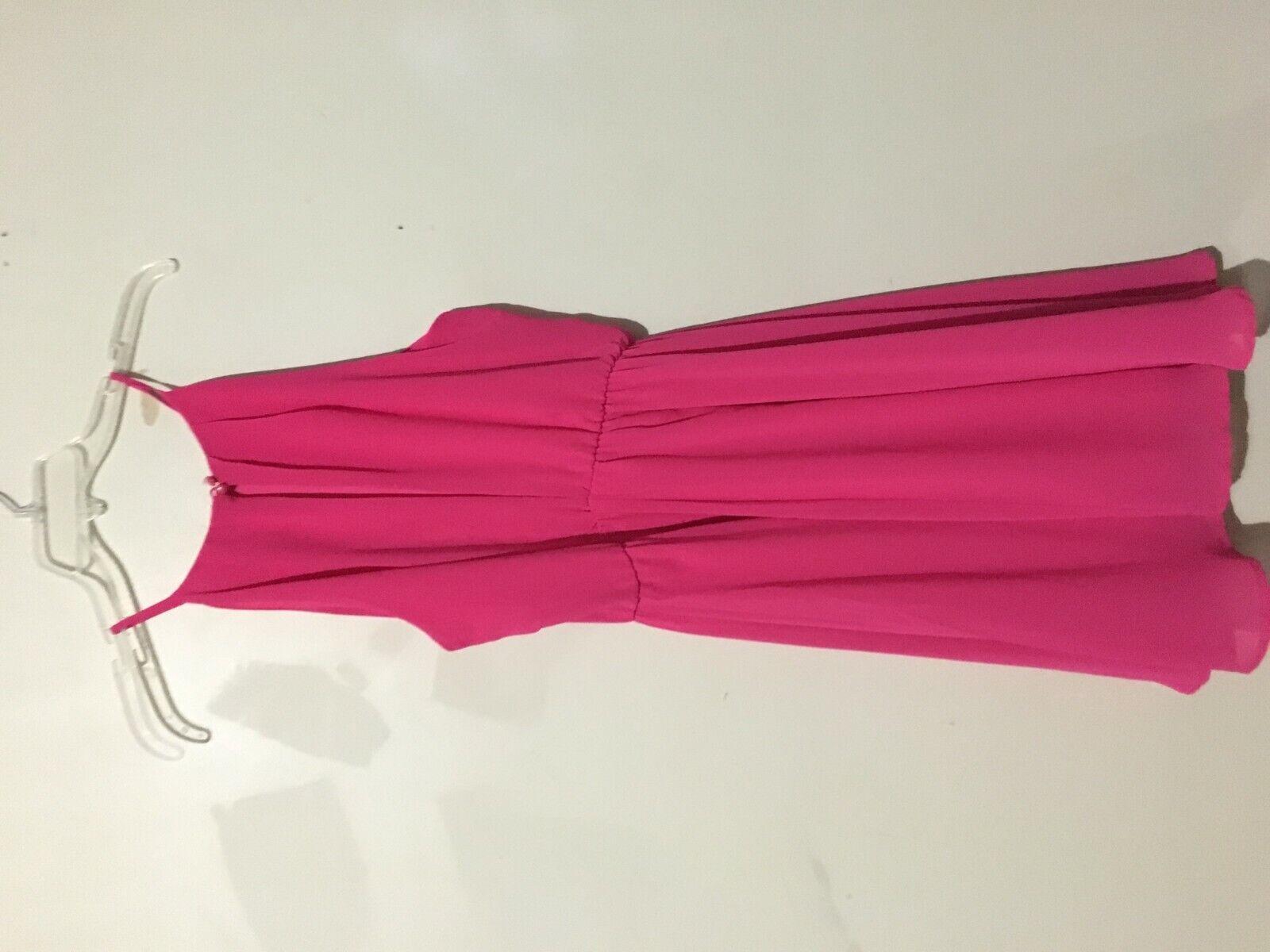 adace261b9 ... Lush Pink Sheer Lined Summer Summer Summer Flare Dress Women Size M  Sleeveless 61f420 ...