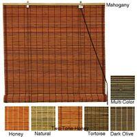 Handmade Burnt Bamboo 48-inch Roll-up Window Shade (china)