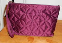 Ulta Burgundy Satin Quilted Makeup Cosmetic Bag With Tags