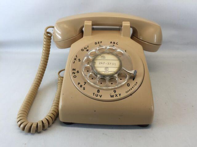 Vintage ITT 500 Rotary Desk Telephone