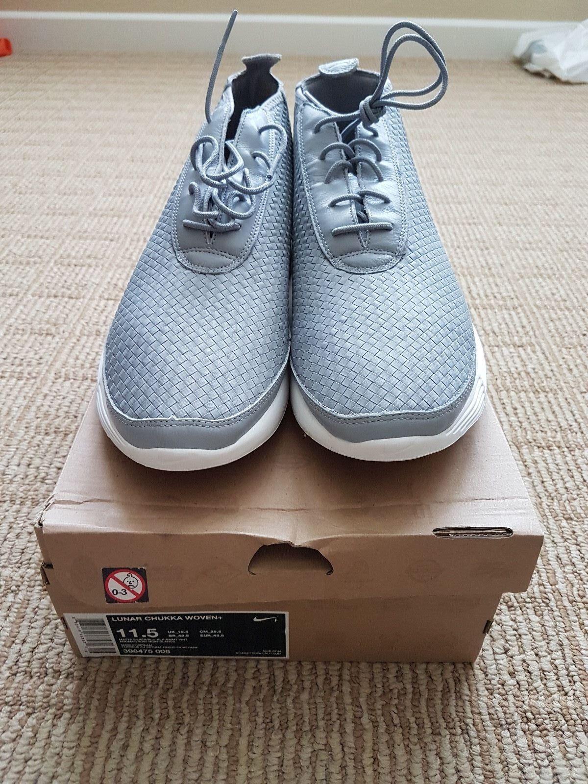 huge discount 4918a 68bf9 Nike lunar - - - chukka tessuti + sz 11,5 opaca bianco argento