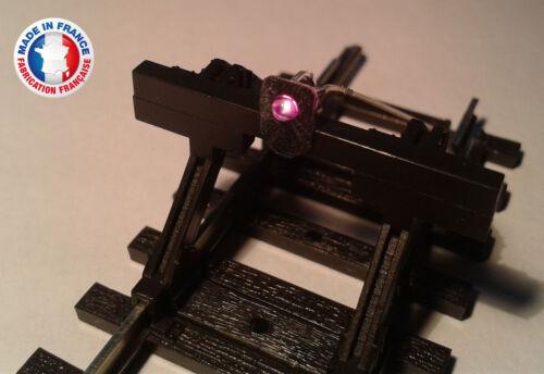 FEU02-HO-Lot de 10 feux de heurtoir avec led violette