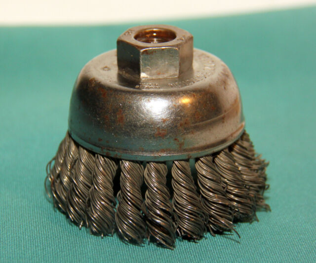 """3/"""" Cup Wire Brushes Twist Style Wheels Grinding Thread M10X1.5mm Metal Grinder"""