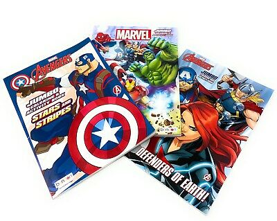 Marvel Avengers Jumbo Coloring Activity Book Spider Man Hulk Iron Man Thor 805219429877 Ebay