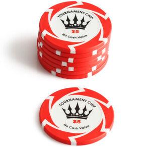 50-x-5-Crown-Millions-Poker-Chip-14g-Clay-Casino-Gambling-Premium-Grade-NEW