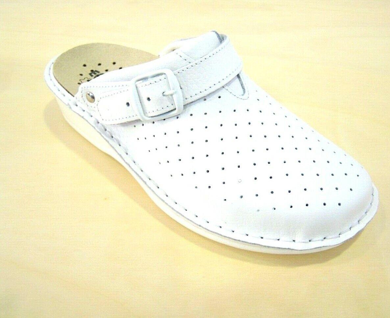 Ciabatta Ecosanit chaussures forato professionale PLANTARE ESTRAIBILE Couleure bianco