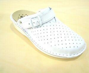 Ciabatta Ecosanit Shoes forato professionale PLANTARE ESTRAIBILE colore bianco