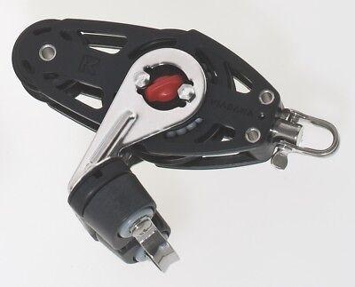"Fiddle Ball Bearing Composite Ratchet Block w//Cam Cleat 2 1//4/"" Viadana 57mm"
