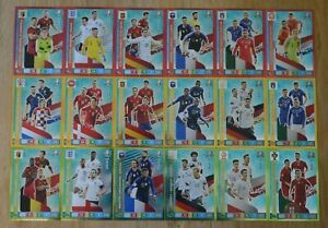 Panini-Adrenalyn-XL-Uefa-Euro-EM-2020-alle-18-Multiple-Trio-Karten-komplett